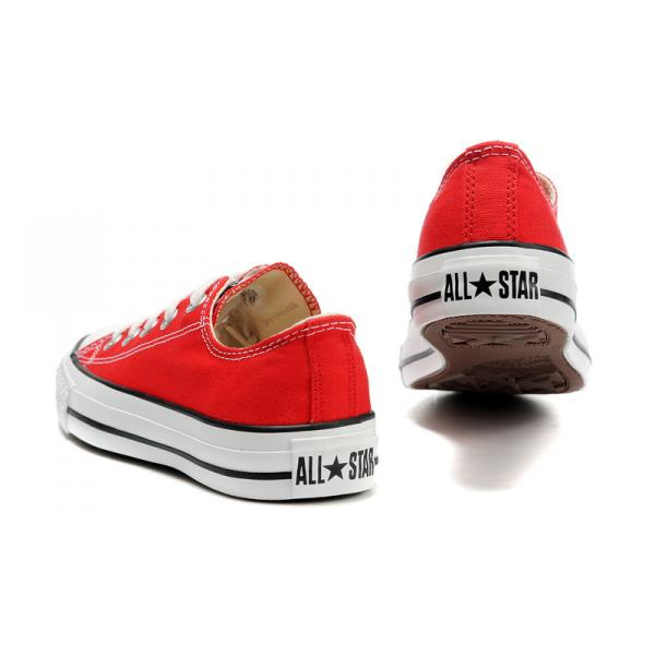 converse basse rouge femme