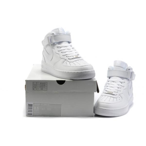 on sale feaf5 526f0 nike air force 1 mid blanc femme pas cher