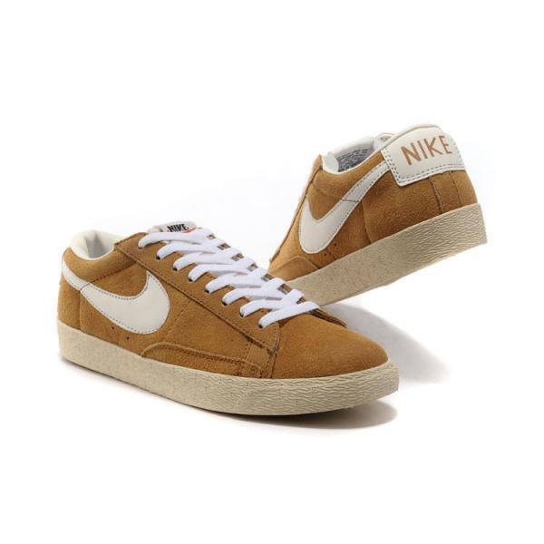save off c54f4 09389 ... Soldes Nike Blazer Cuir Low Pour Homme en Jaune .