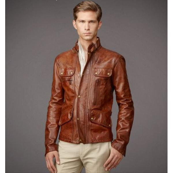 blouson cuir marron homme soldes les vestes la mode. Black Bedroom Furniture Sets. Home Design Ideas