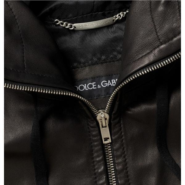 05ae6dd0edff Veste Cuir Dolce   Gabbana Homme en Noir Pas Cher